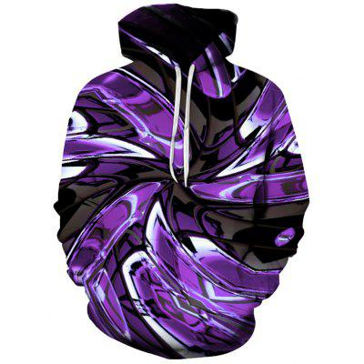 Men's Creative Spiral Hoodie Personalized Sweater 3D Digital Printing Pullover