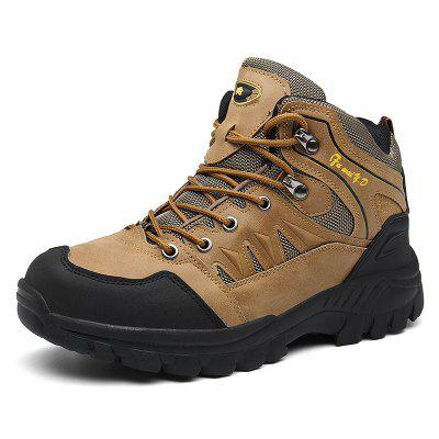 AILADUN Men's High-top Hiking Shoes Outdoor Sports Lace-up Shoes Anti-collision Toe