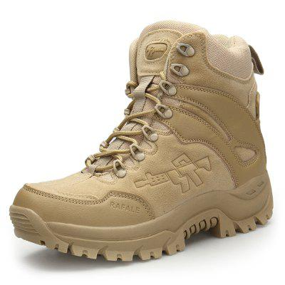 AILADUN Men's Outdoor Sports Combat Boots Thick Outsole High-top Lace-up Shoes