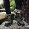 AILADUN Men's High-top Hiking Shoes Outdoor Sports Lace-up Shoes Anti-collision Toe - ARMY GREEN