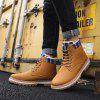 Men's High-top Keep Warm Boots Solid Color Lace-up casual schoenen - BRUIN