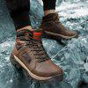 TANTU Men's Keep Warm Winter Snow Boots Outdoor Durable Hiking Shoes - BROWN