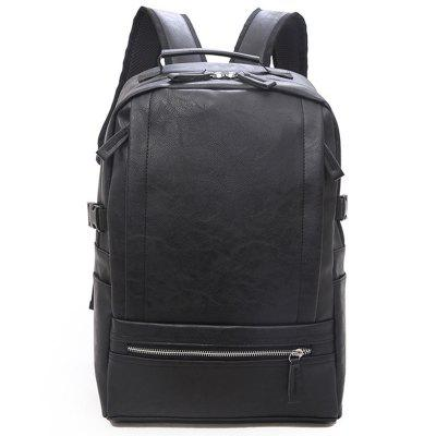 Casual PU Leather Men Backpack Outdoor Simples Travel Bag Grande Capacidade Computer-bag