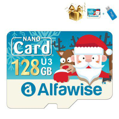 Alfawise Christmas Fun Edition Micro SD TF karta 3 v 1 128 GB. High Speed ​​Pamäťová karta balíčku