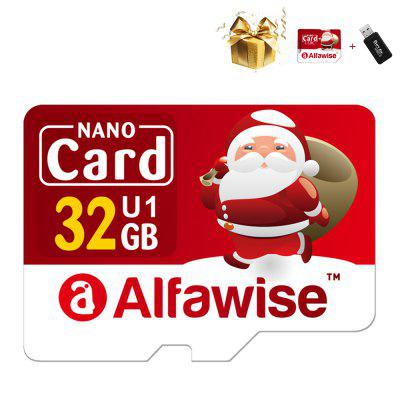 Alfawise Christmas Fun Edition Micro SD TF Card 3 in 1 32GB High Speed ​​Memory Card Pack