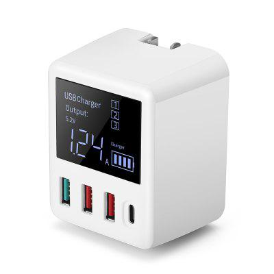 Coupon For 4 Ports Digital Display Fast Charger.