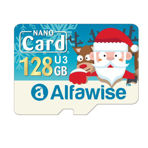 Alfawise Christmas Fun Edition Micro SD TF Card 3 In 1 128GB High Speed Memory Card Pack