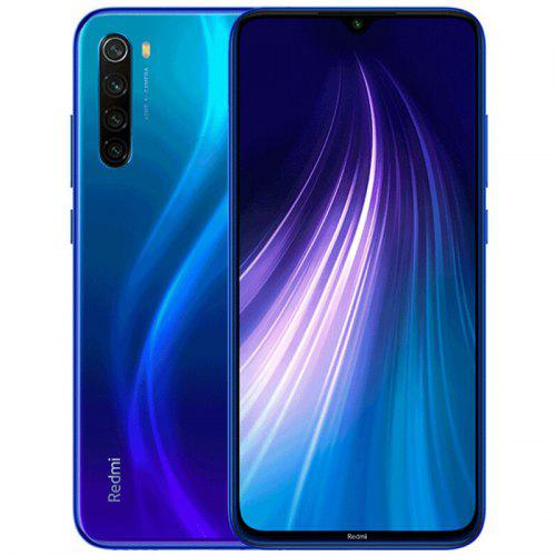 Gearbest Xiaomi Redmi Note 8 4G Phablet Global Version 6.3 inch MIUI 10 Snapdragon 665 Octa Core 3GB RAM 32GB ROM 4 Rear Camera 4000mAh - Blue Corning Gorilla Glass 5 Back and Front, 18W Fast Charge