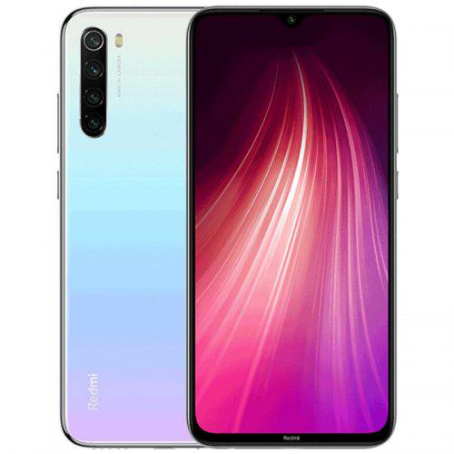 Gearbest Xiaomi Redmi Note 8 4G Phablet Global Version 6.3 inch MIUI 10 Snapdragon 665 Octa Core 4GB RAM 128GB ROM 4 Rear Camera 4000mAh - White Corning Gorilla Glass 5 Back and Front, 18W Fast Charge