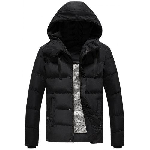 Gearbest Men's Winter Lightweight Parka Smart Heat Simple Coat without Powerbank