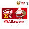Alfawise Christmas Fun Edition Micro SD TF Card 3 In 1 32GB High Speed Memory Card Pack - MULTI