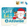 Alfawise Christmas Fun Edition Micro SD TF Card 3 In 1 64GB High Speed Memory Card Pack - MULTI