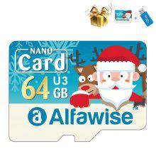 Gearbest Alfawise Christmas Fun Edition Micro SD TF Card 3 In 1 64GB High Speed Memory Card Pack