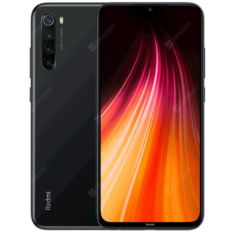 Xiaomi Redmi Note 8 4G Smartphone Global Version 6.3 inch MIUI 10 Snapdragon 665 Octa Core 4GB RAM 128GB ROM 4 Rear Camera 4000mAh - Black