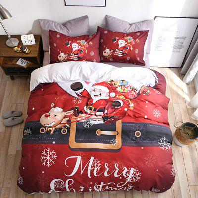 Christmas Happy Santa Claus Happy Gift 3D Digital Bedding Set