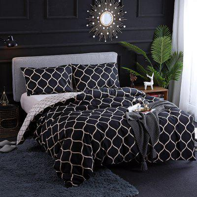 Sanding Printing European and American Diablo Style Bedding Set