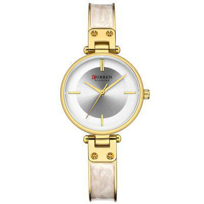Curren 9058 Women Small Round Dial Watch Waterproof Quartz Watch