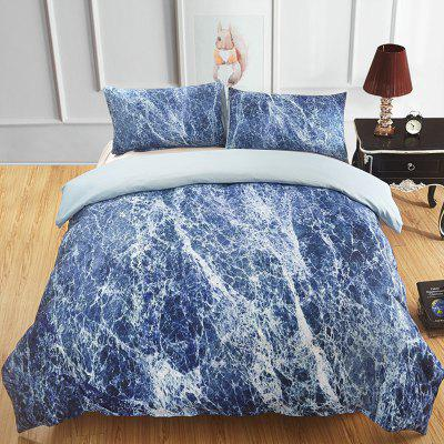 Sub-marmer Flower Rock Floor Tegelpatroon 3D Digital Printing Bedding Set