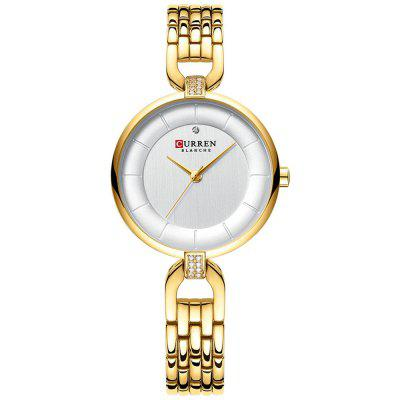 CURREN 9052 Women Waterproof Simplicity Small Dial Watch Exquisite Stainless Steel Strap