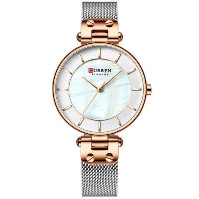 Curren 9056 Women Ring design Simple Dial Watch Nepremokavé Steel Strap Stainless