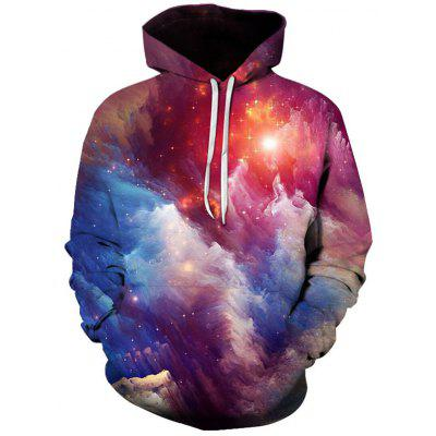 Men's Galaxy Star Hoodie Fashion Sweater Landscape Print Pullover