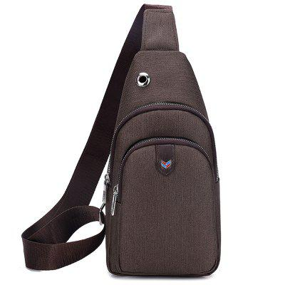 Men's Oxford Cloth Durable Chest Bag with Headphone Jack