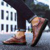 SENBAO Men's Lace-up Cowskin Casual Shoes Breathable Shoes Handmade - BROWN