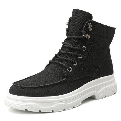 Men Trend High-top Stitching Boots Simple Outdoor Sports Shoes