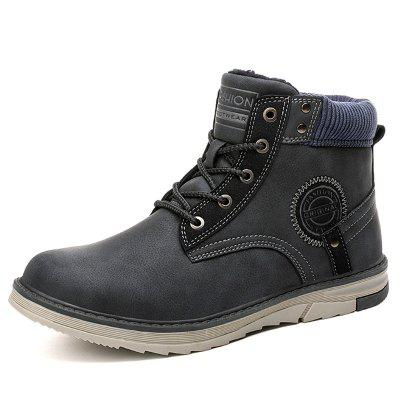 AILADUN Men's Outdoor High-top Boots Casual Shoes Lace-up Slip Resistant