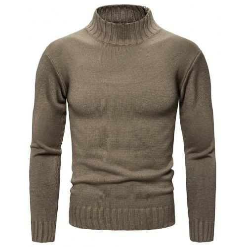 Mens New Turtleneck Slim Fit Knitted Fashion Casual Tees Tops Korean Swearters
