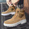 Men Trend High-top Stitching Boots Simple Outdoor Sports Shoes - KHAKI