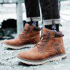 AILADUN Men's Outdoor High-top Boots Casual Shoes Lace-up Slip Resistant - BROWN