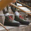 Men's Red Outsole High-top Boots Non-slip + Anti-collision Toe Design Shoes - ARMY GREEN