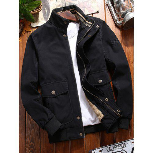 ainr Mens Outdoor Casual Stand Collar Padded Vest Coats Jacket