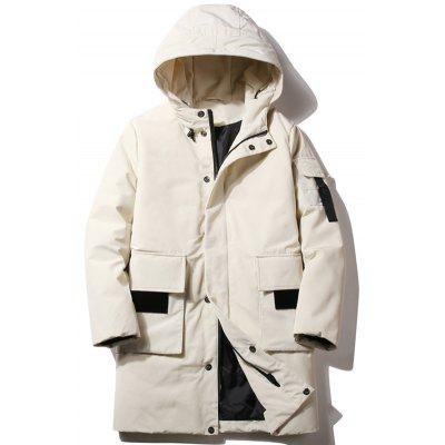 Men's Long Down Coat Winter Keep Warm Hooded Parka