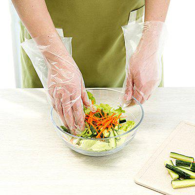 Food Grade Strong Flexibility Disposable Gloves 100pcs / Pack