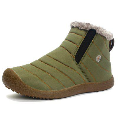 AILADUN Men's Simple Keep Warm Snow Boots Casual Outdoor Shoes Anti-collision Toe