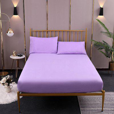 Solid Color Sanding Home Textile Bedspread Mattress Cover