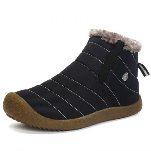 AILADUN Men's Simple Keep Warm Snow Boots Casual Outdoor Shoes Anti collision Toe