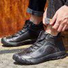 AILADUN Men Solid Color Outdoor Tooling Shoes Leisure Full Grain Leather Footwear - BLACK