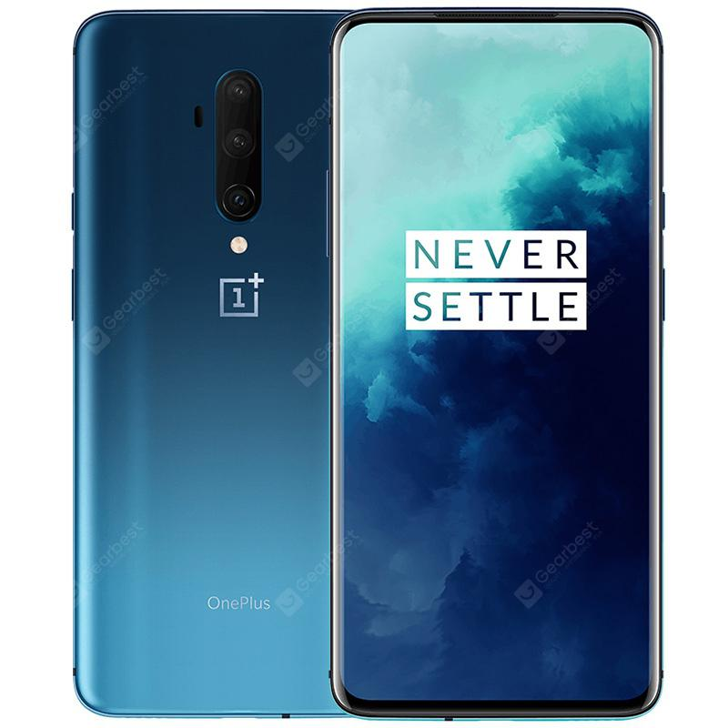 OnePlus 7T Pro 4G Smartphone 6.67 inch 8GB RAM 256GB ROM EU Local After sale Oxygen OS Snapdragon 855 Plus Octa Core 3 Rear Camera 4085mAh Battery International Version  Blue