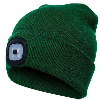Men's Luminous Creative Knit Hat LED Maintenance Headlights Autumn Winter Night Fishing Lights