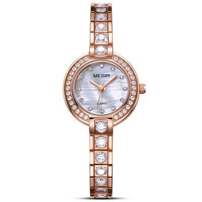 Megir Vrouwen Fashion Ultradunne Band Diamond Bracelet Watch Zakelijke Mini Quartz horloges
