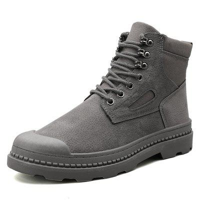 Men's Retro Tooling Boots Outdoor Non-slip Stitching Shoes