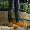 Men's Casual Non-slip Ankle Boots Durable Outdoor Tooling Shoes - YELLOW