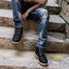 Men's Casual Non-slip Ankle Boots Durable Outdoor Tooling Shoes - BLACK