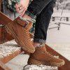 Men's Winter Keep Warm Snow Boots Lace Up + Hook / Loop Casual Slip Resistant Shoes - CAMEL BROWN
