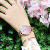 Megir Women Fashion Gradient Dial Watch Ultra-thin Compact Quartz Watches - ROSE