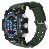 PANARS Mannen Intelligent Waterproof Screen Shockproof Digital Watch Raising Hand Wake-up berichten Herinner Horloge - HAZEL GREEN