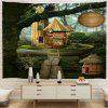 Forest Cabins Digital Printing Tapestry - MULTI-A